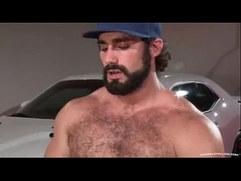 Hairy man hard fucking