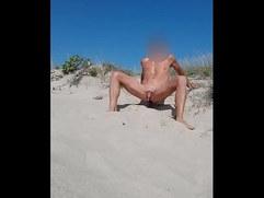 Prostate Orgasm on the beach