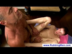 Older homosexual gives boy anal massage