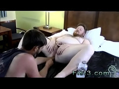Gay fisting big cock Sky Works Brocks Hole with his Fist