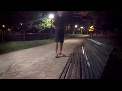 A young guy strips totally in a public park almost ? caught by cyclist