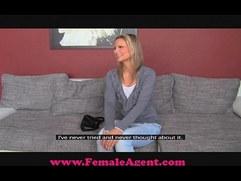 FemaleAgent Bisexual blonde beauty