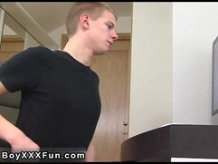 Gay cock British youngster Zack gets unclothed and strokes his hard