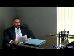 Gay mature redbears job interview cums to climax