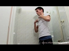 In shower Rob Galo from Hammerboys TV