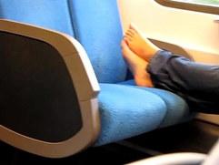 Dutch girl feet candid