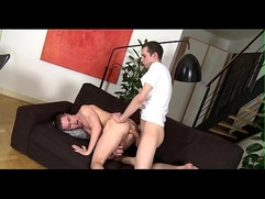 Charming flower chap is getting a lusty anal doggystyle sex