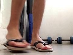 Male Feet In Flip Flops