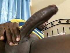 Black Uncut Wank
