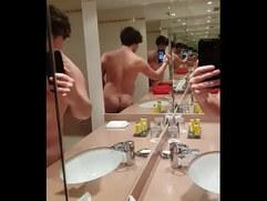 Nice Chav Boy Mirror Wank
