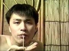Japanese boy cumsucking his best mate