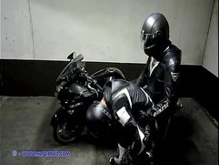 Leather motorcycle gay
