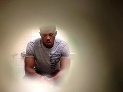Hung black guy on toilet HD
