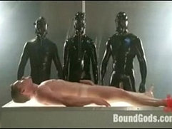 Alien abduction play on cam with fisting and semen extraction