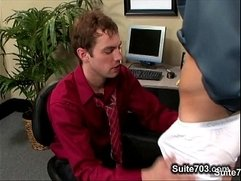 Horny office gays fucking