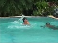 Brazilian Pool Side Threesome