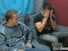 Married man get a blow from his hansome gay friend